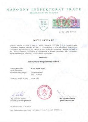 Osvedcenie ABT 20-04-2010