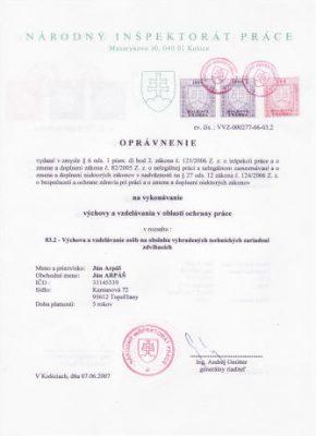 opravnenie obsluh VTZZ 03.2